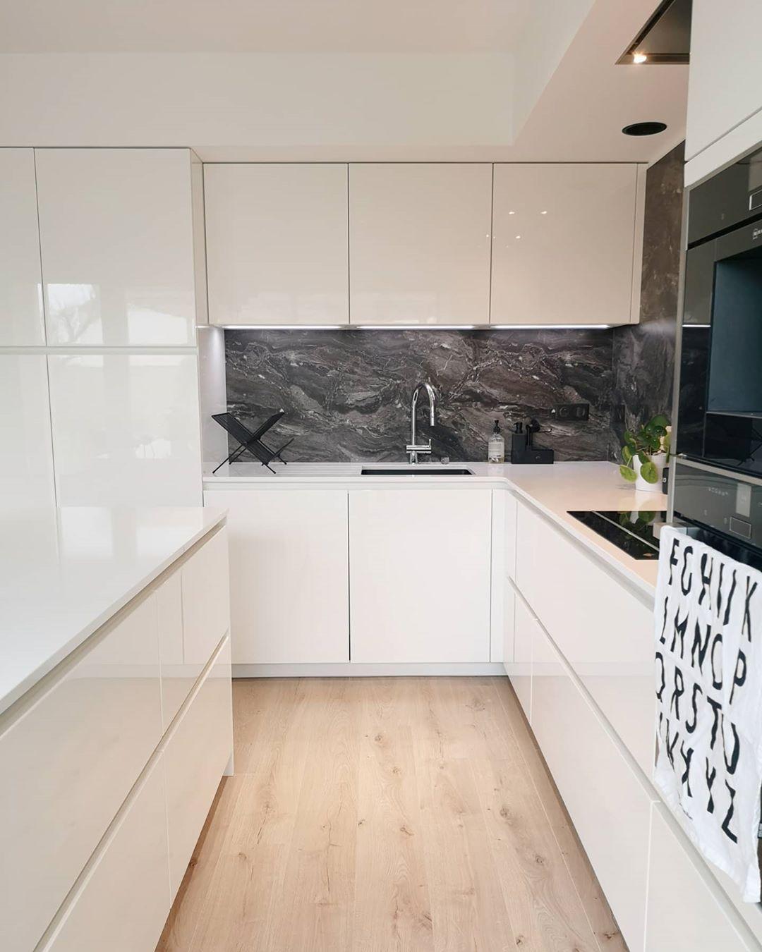 43++ Cuisine blanche marbre gris ideas