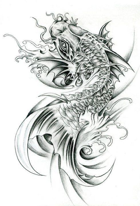 9 Koi Dragon Tattoo Koi Tattoo Sleeve Dragon Koi Tattoo Design