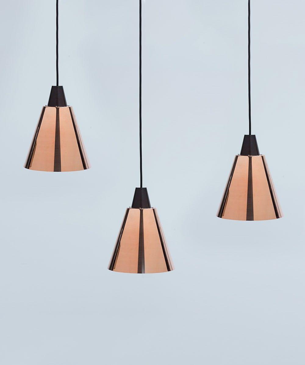 Copper Tri Ampel Pendant by New Zealand designer Tim Webber ...