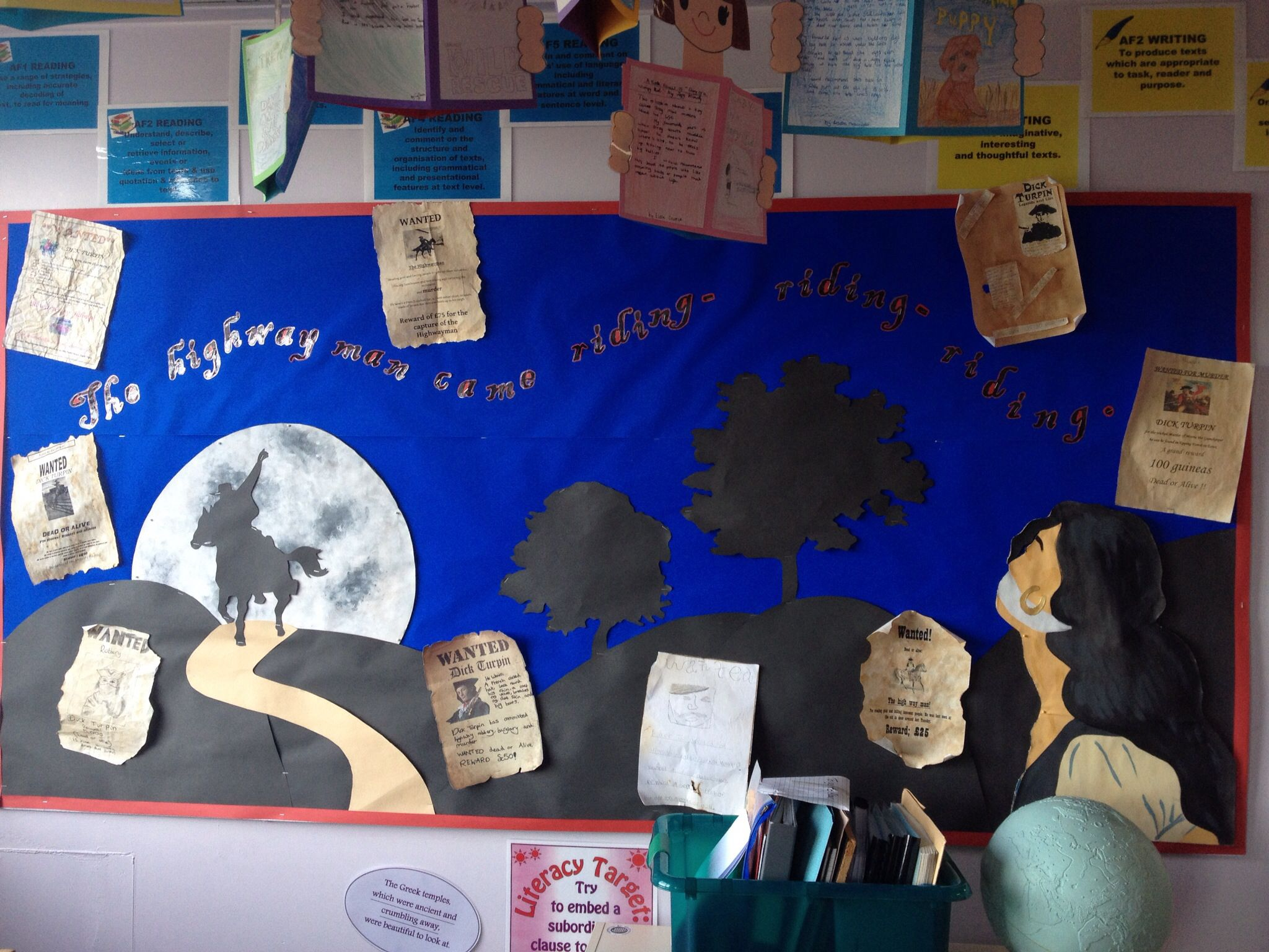 the sounds of the highwayman task setter activity powerpoint the highwayman classroom display