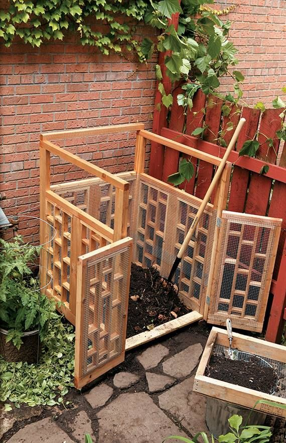 How To Build A Wood Compost Bin Homemade Compost Bin Compost