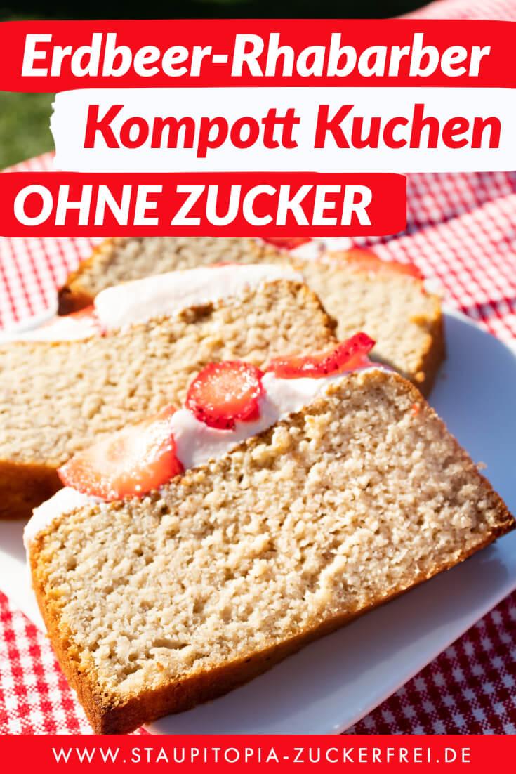 Low Carb Erdbeer Rhabarber Kompott Kuchen In 2020 Food Low Carb Carbs