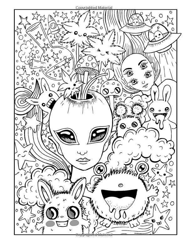 Hippie Stoner Coloring Pages : hippie, stoner, coloring, pages, Coloring, Pages, Stoners, Cinebrique