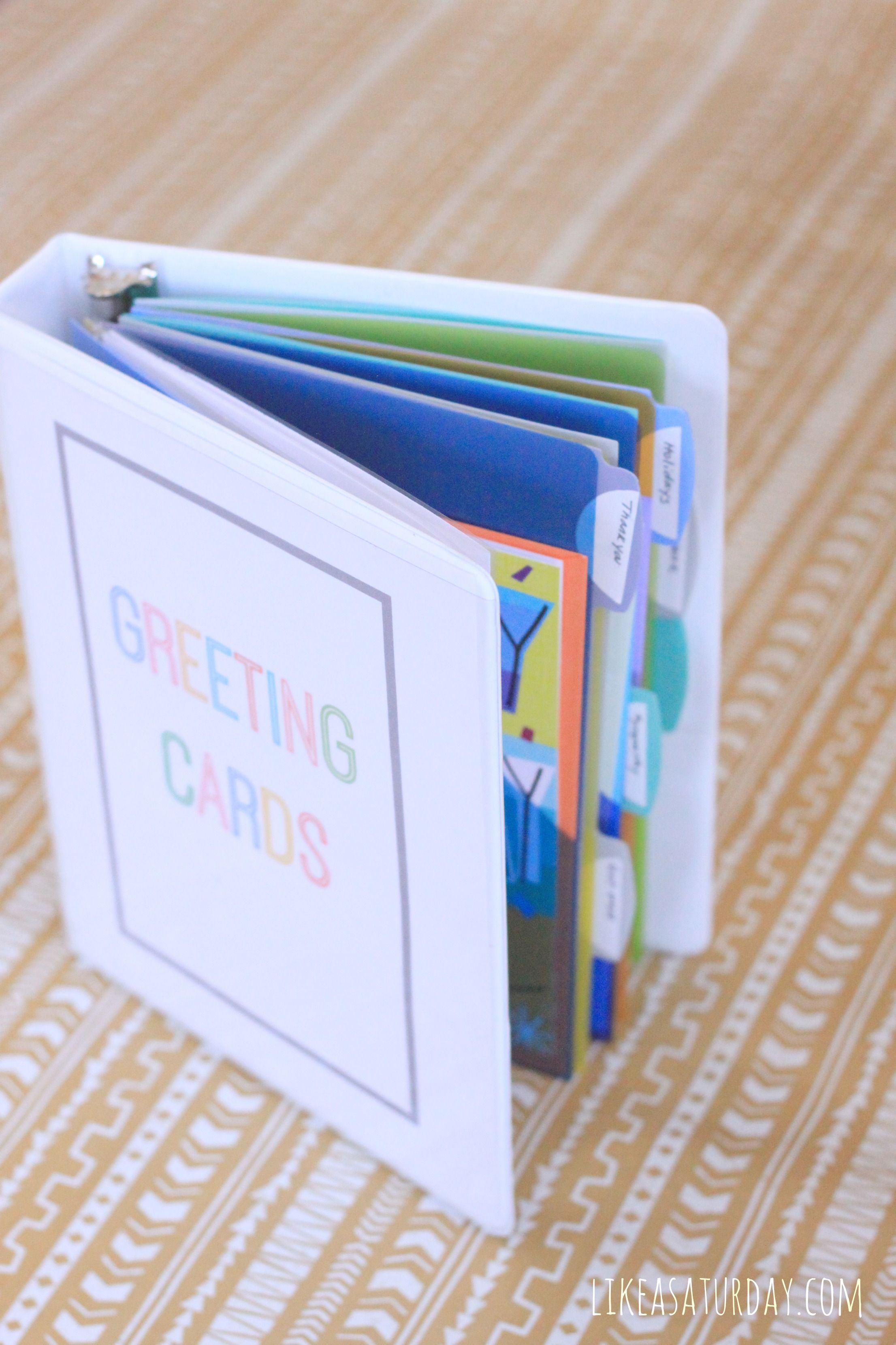 Greeting card organizer using a mini binder fully stocked with greeting card organizer using a mini binder fully stocked with hallmark value cards they run at 47 and 97 cents a piece kristyandbryce Image collections