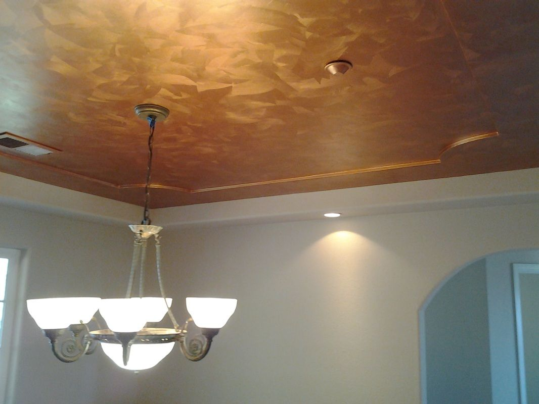 How to paint a brushed copper metallic faux finish add