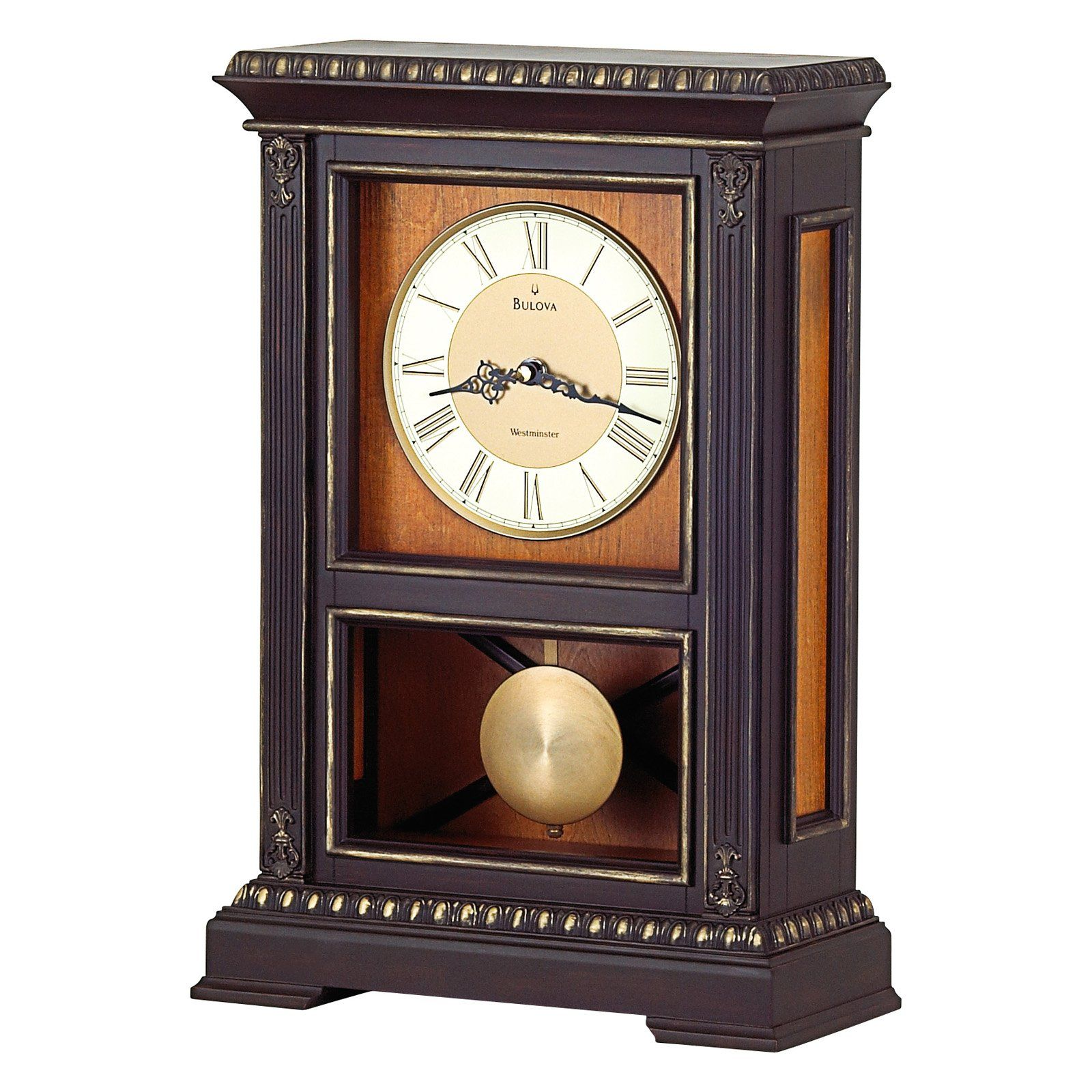 Have To Have It Bulova Whitmore Mantel Clock 149 99 Wall Clock Clock Clock Decor #standing #clocks #for #living #room