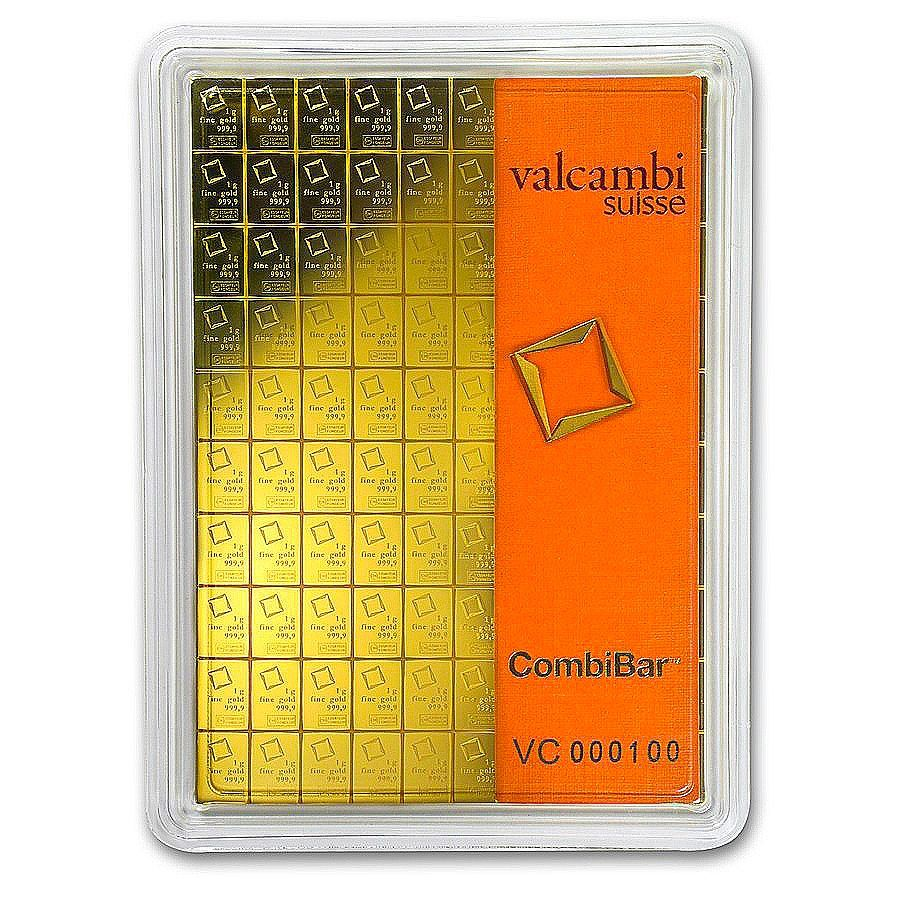 100x 1 Gram Gold Combibar Valcambi In Assay Gold Price Chart Precious Metals Gold Coin Price