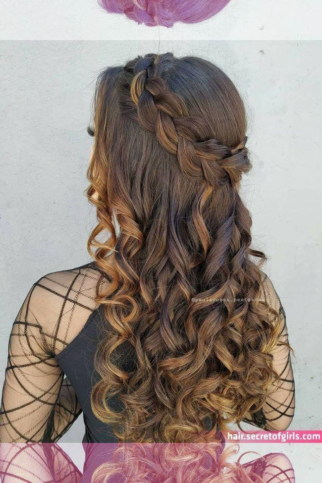 Semi preso romântico Hair art – Peinados facile