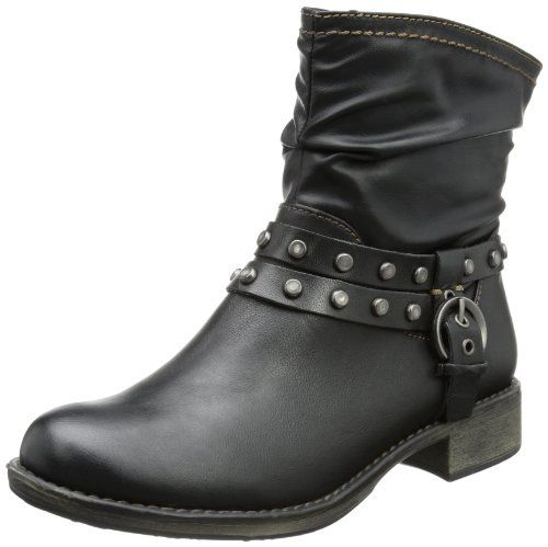 save off 63b5a 7ce94 s.Oliver Casual 5-5-25319-21, Damen Biker Boots, Schwarz ...