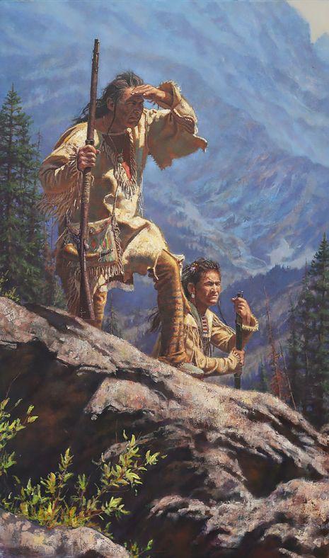 High Country Hunters Native American Art Native American Paintings Native American Artifacts