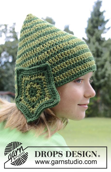 Star Elf - Crochet DROPS hat in \