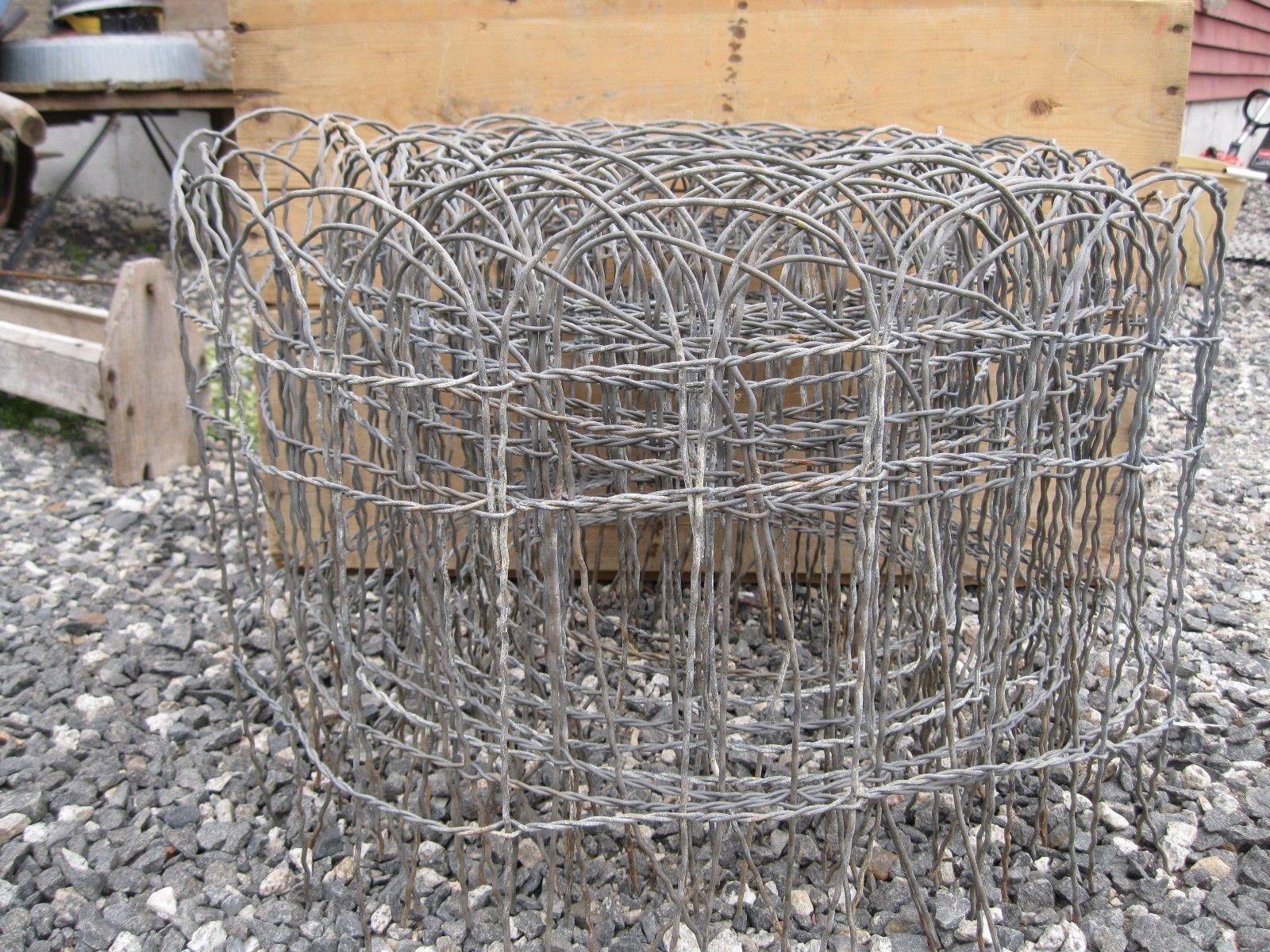 Vintage Antique Wire Round Top Garden Fence 30 Feet | eBay | fencing ...