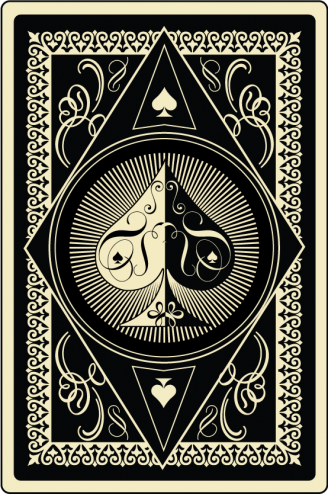 spade card art  Pin by All Things Worth Collecting on Playing Cards in 5 ...