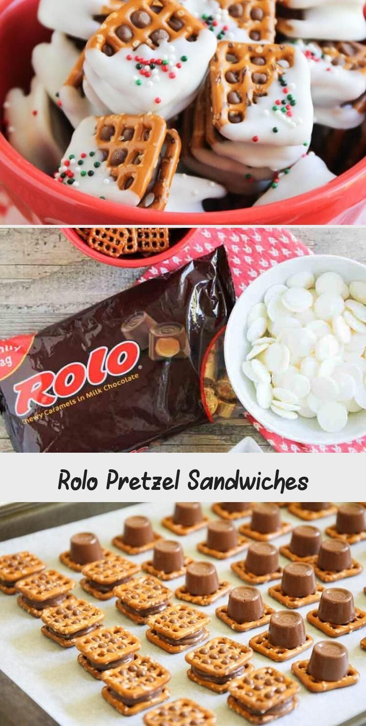 Rolo Pretzel Sandwiches  Only 3 ingredients to make and theperfect blend of salty and sweet crunchy and chewy and all around delicious These rolo pretzels are the e...