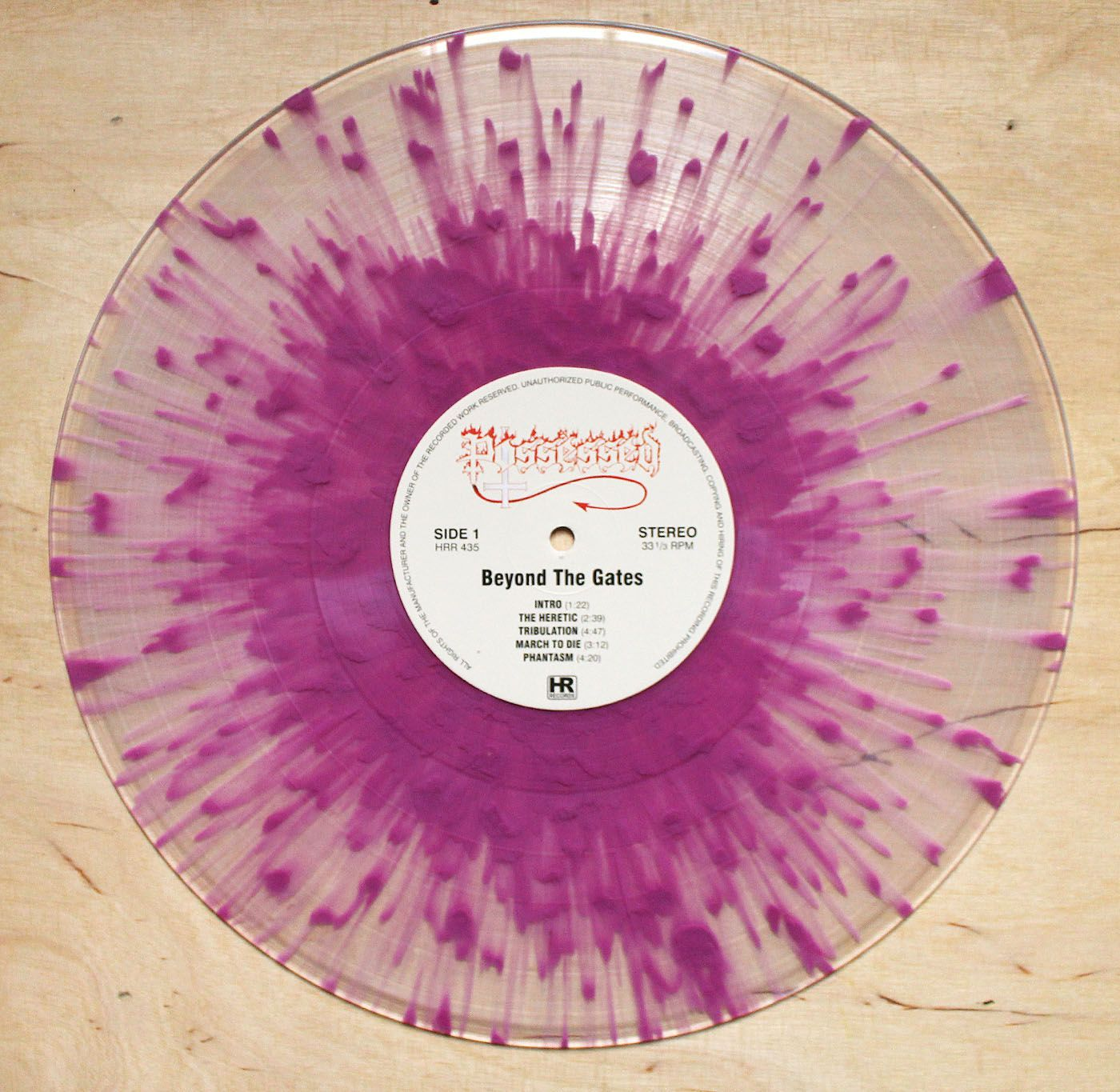 Possessed Beyond The Gates Clear Purple Splatter Vinyl 12 Inch If You Want To Customize A Good Looking Vinyl And Vinyl Record Art Vinyl Vinyl Records