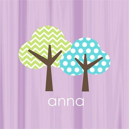 @rosenberryrooms is offering $20 OFF your purchase! Share the news and save!  Personalized Purple Tree Canvas Reproduction #rosenberryrooms