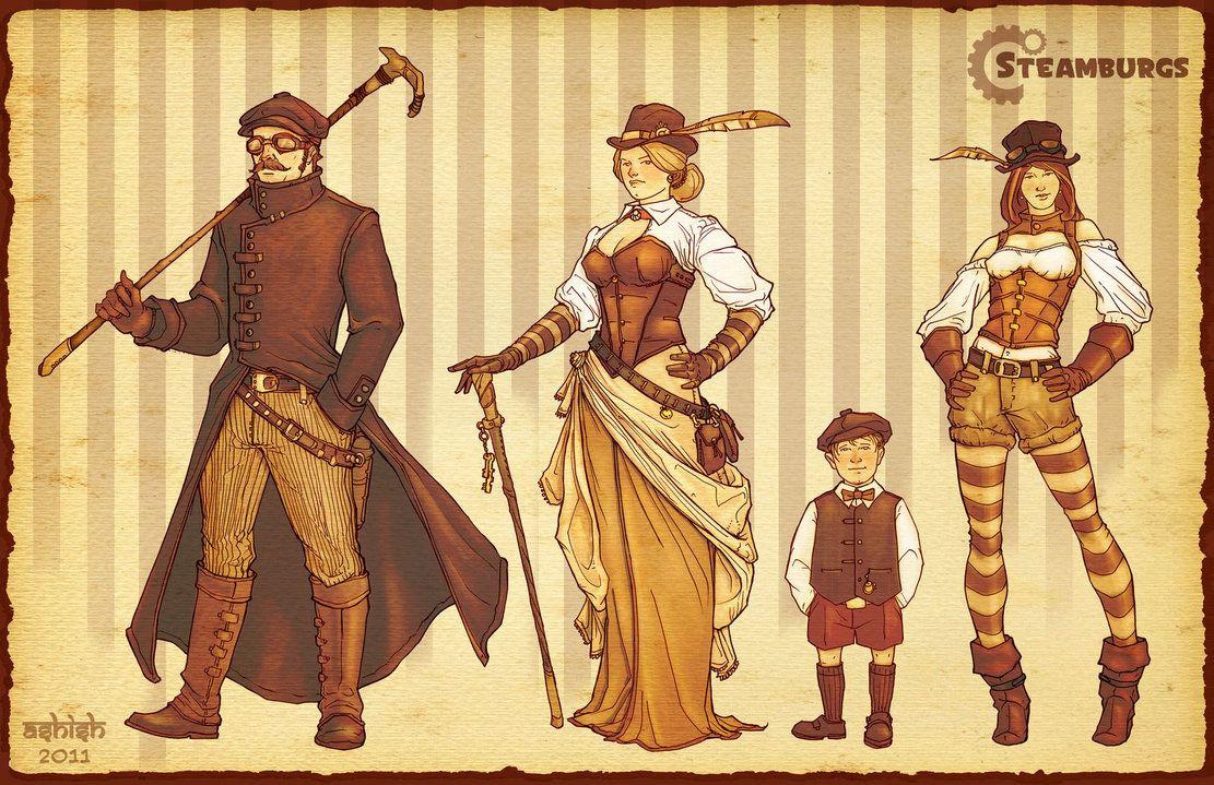 Steampunk Family by Atomic-Hermit on DeviantArt