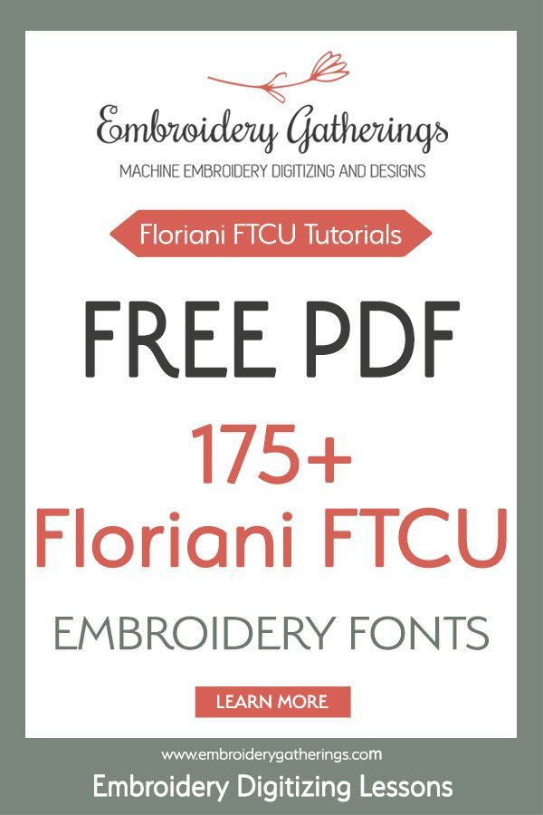 Free Pdf Of 175 Font Samples From Floriani Ftcu Software Best