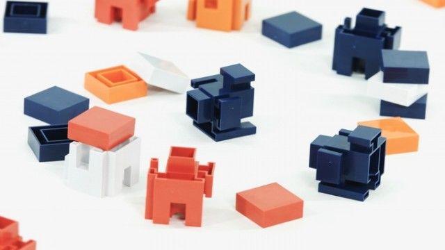 2種類のブロックで自由なかたちの家具が作れるAran Blocks