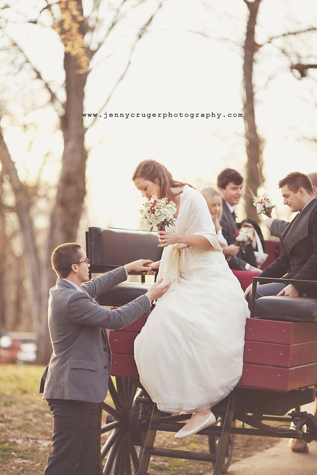josef gives his bride, gracie, a hand as she exits The Hermitage's horse carriage
