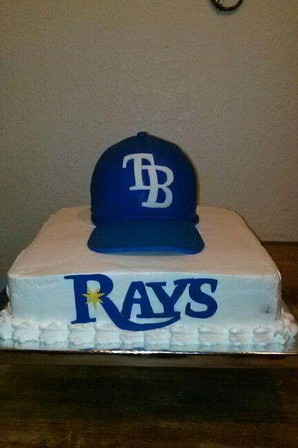 Pleasing Tampa Bay Rays Fan Cake Perfect For A Mans Birthday With Images Personalised Birthday Cards Veneteletsinfo