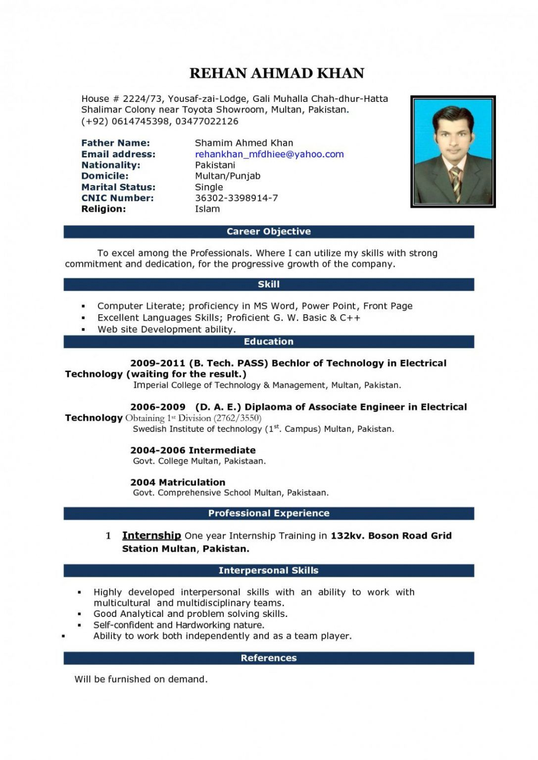 Resume Example Write an engaging resume using Indeed's