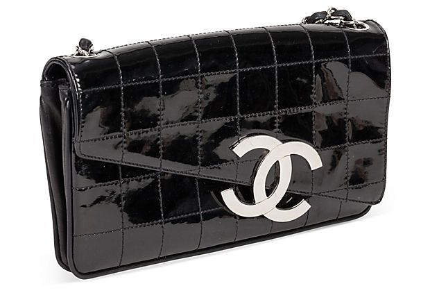 Chanel Leather Bag w/ Silver Hardware  on OneKingsLane.com