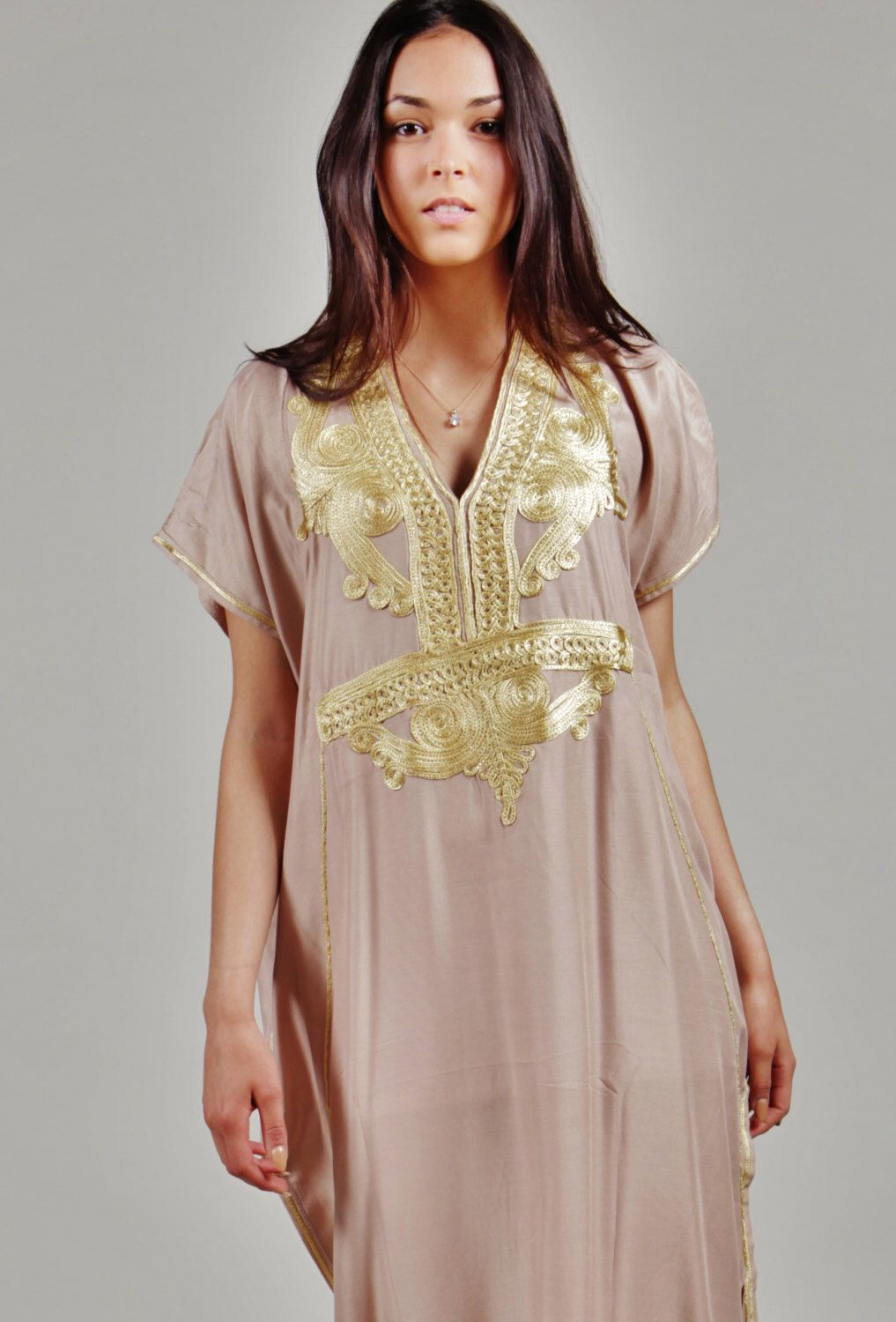 356c95ec23 BEIGE Marrakech Resort Caftan Kaftan - resortwear,loungewear, maxi dresses,  birthdays, honeymoon