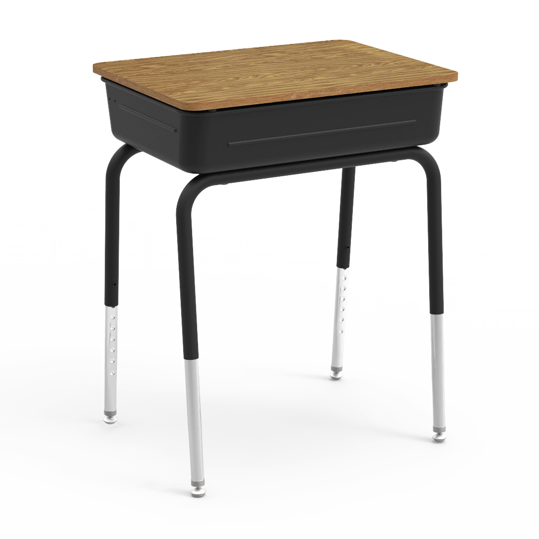 751 Series Student Desk With Metal Book Box Classroom Furniture