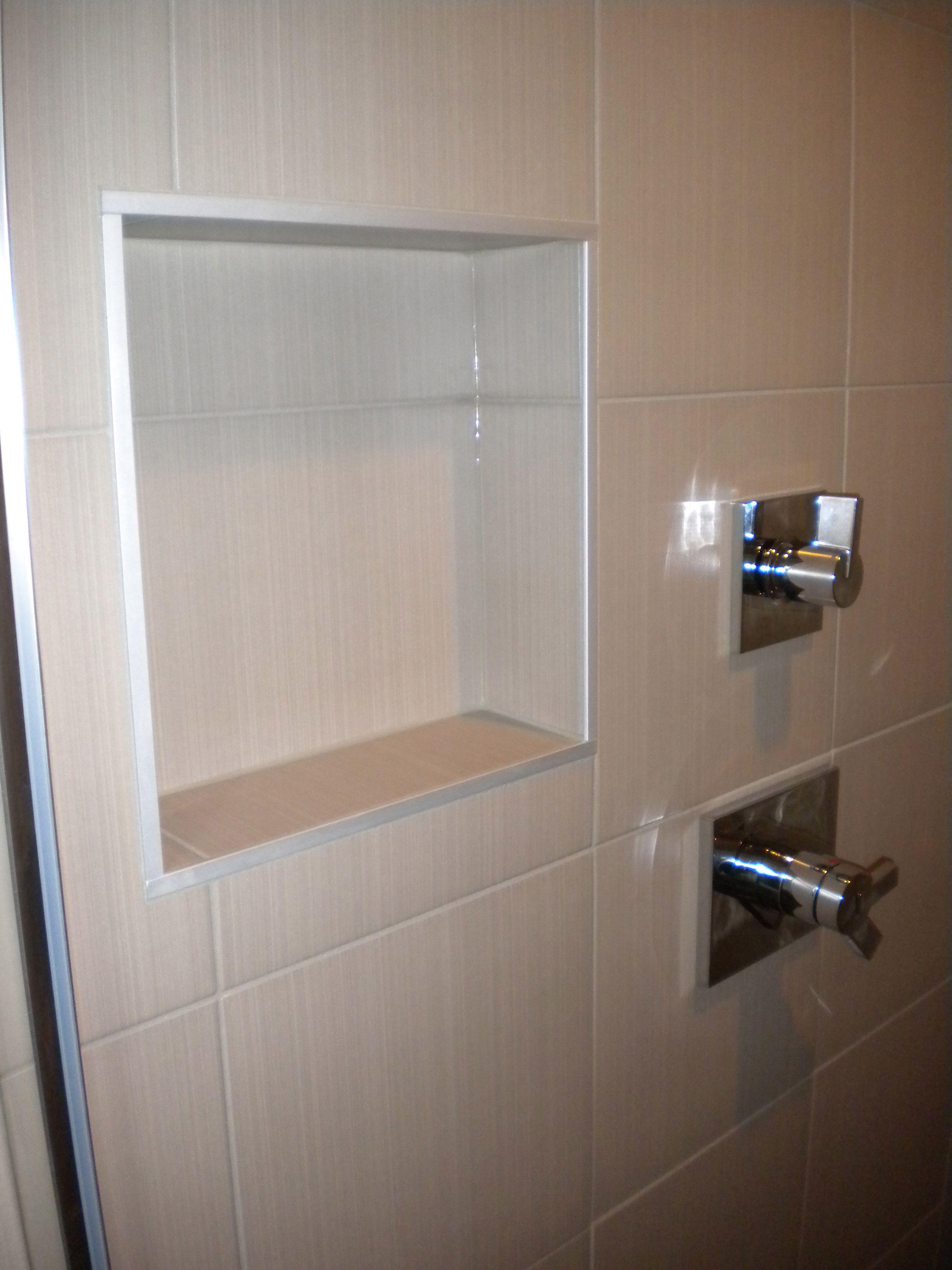 Tub Surround Niche Soap Ceramic Recessed Shower Shelf Dark Brown For