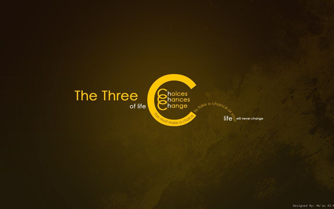The Three C S Choices Chances Change Inspirational Quotes Hd Inspirational Quotes Wallpapers Motivational Wallpaper