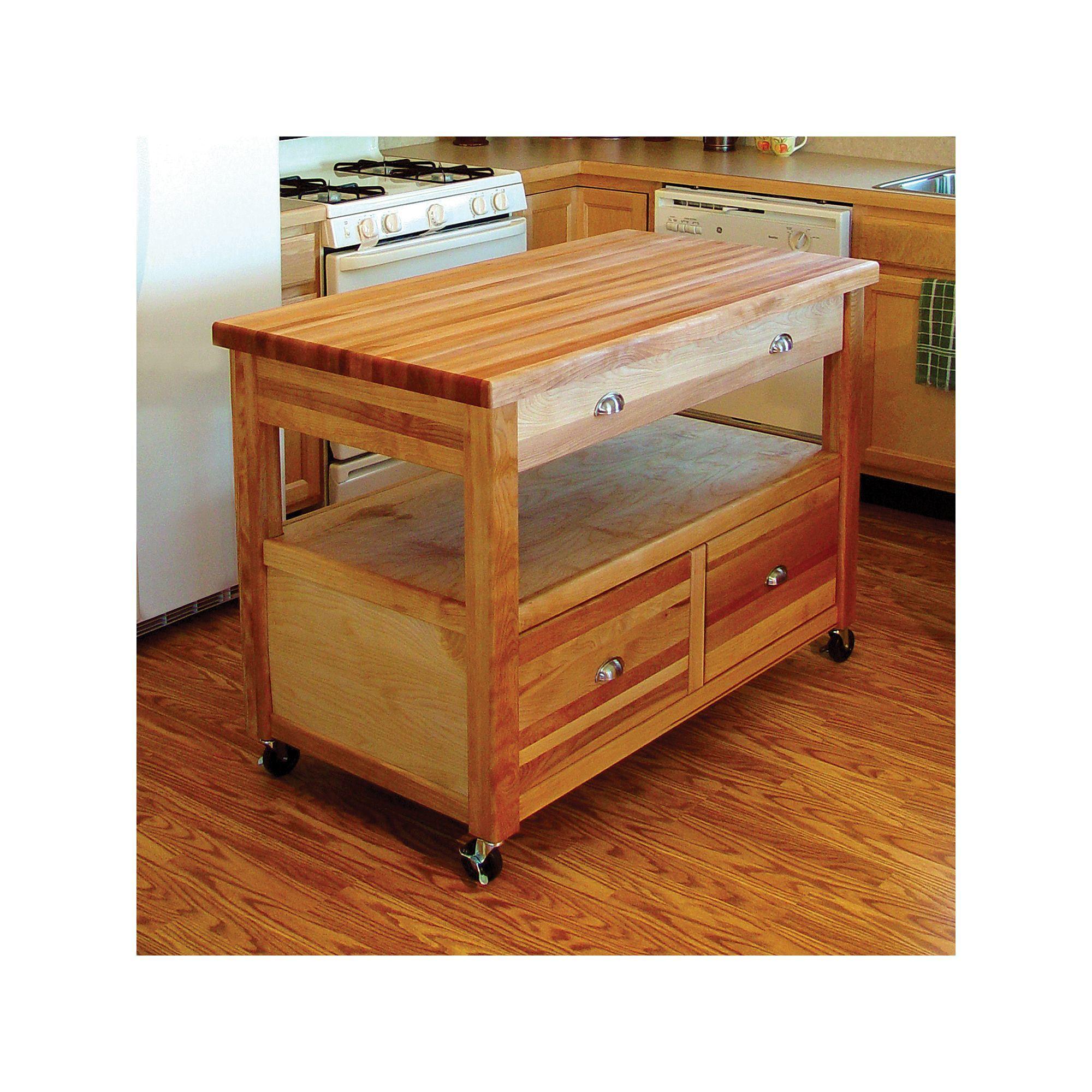 Catskill Craft Grand Americana Kitchen Cart   Americana ...