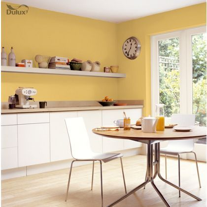 Best Dulux Easycare Kitchen Lemon Pie Matt Paint 2 5L Grey 640 x 480