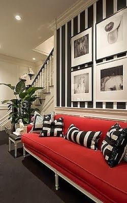 Decorating Your Home With The Black Red Combination Home House Interior Interior Design