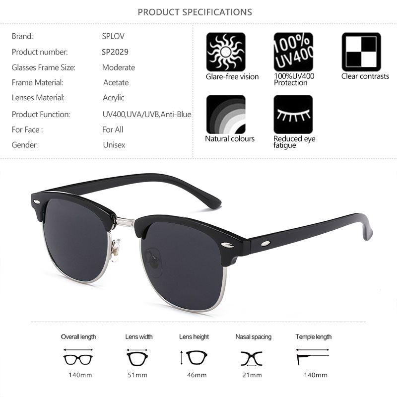 2d0e1944fa New Fashion Semi Rimless Polarized Sunglasses Men Women Brand Designer Half  Frame Sun Glasses Classic Oculos De Sol UV400