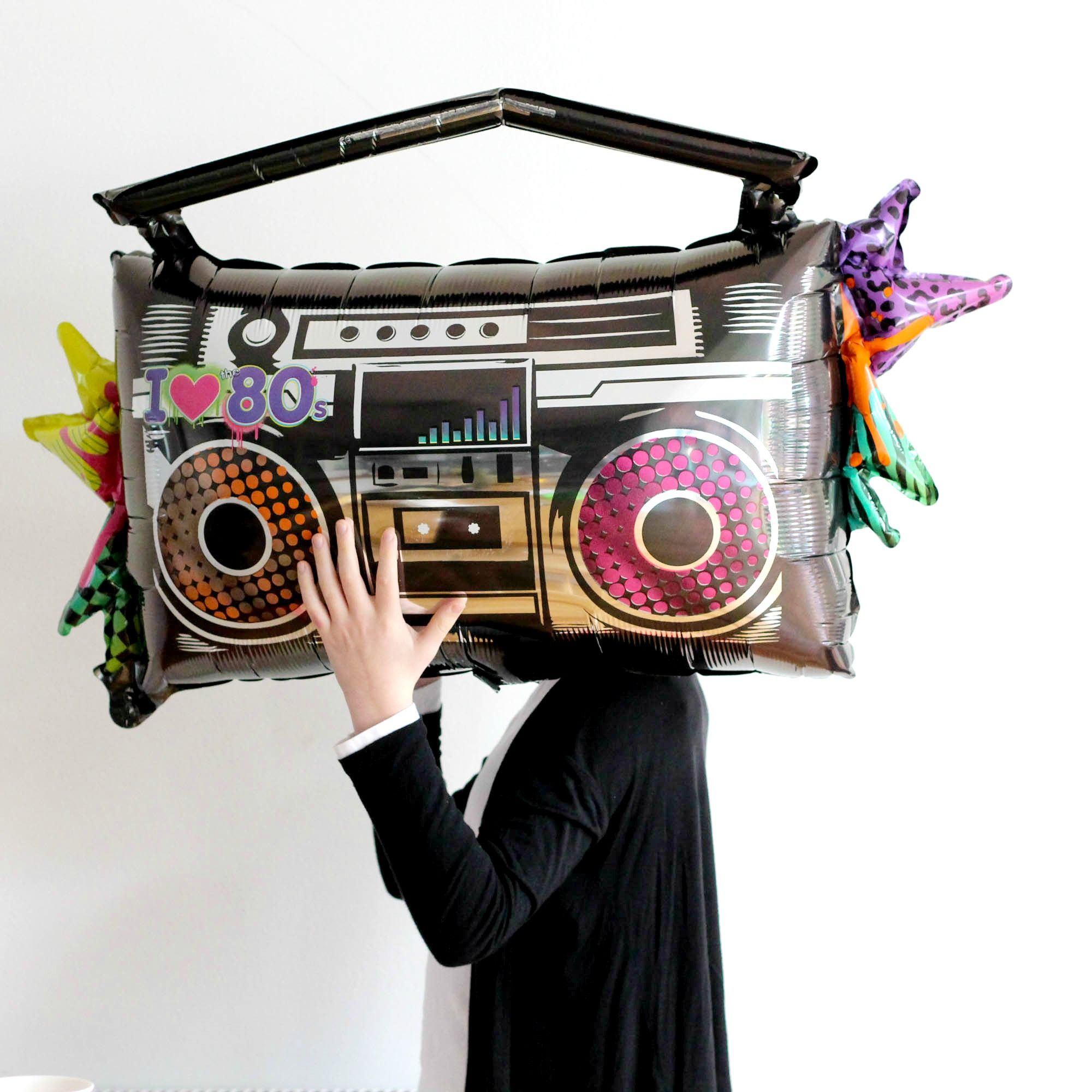 Giant 80's Boombox Balloon from Pretty Little Party Shop - Stylish Party