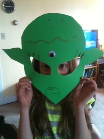 Alien Mask Fun Craft Idea For The Party Alien Party