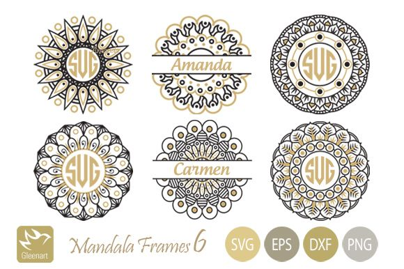 Mandala Monogram Frames Svg Graphic by Gleenart Graphic Design is part of Mandala monograms, Monogram frame, Svg, Mandala, Mandala design, Monogram svg - Download Mandala Monogram Frames Svg now on Creative Fabrica  Get unlimited access to high quality design resources and start right away