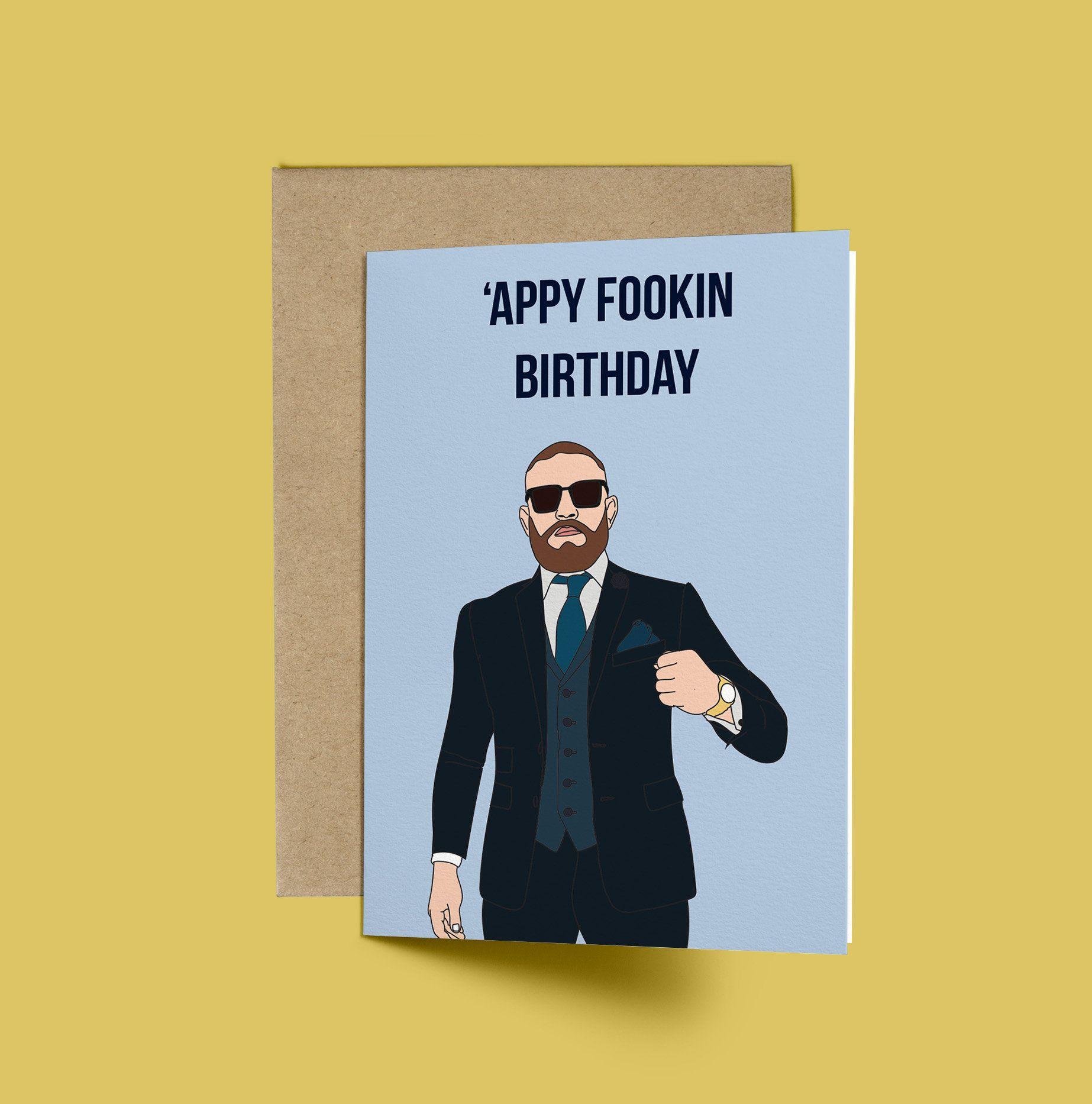 Conor Mcgregor Appy Fookin Birthday Birthday Card Ufc Funny