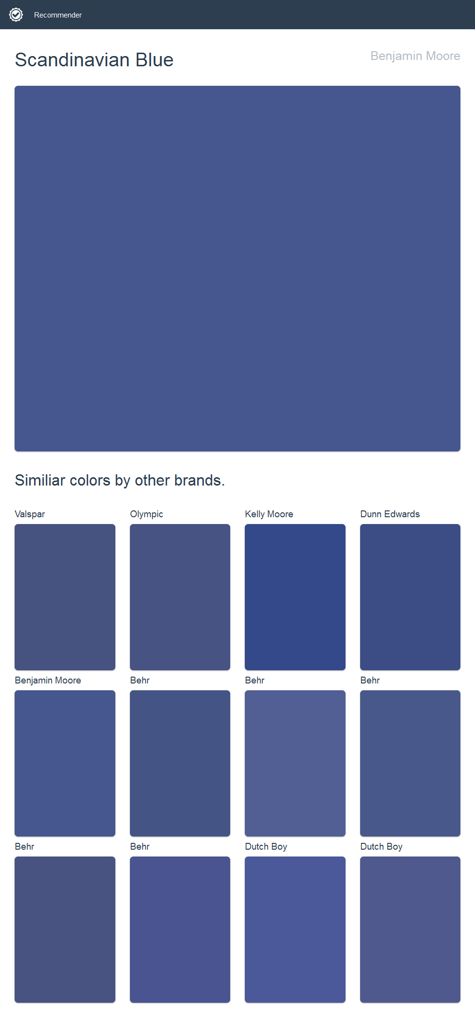 Scandinavian Blue Benjamin Moore Click The Image To See Similiar Colors By Other Brands