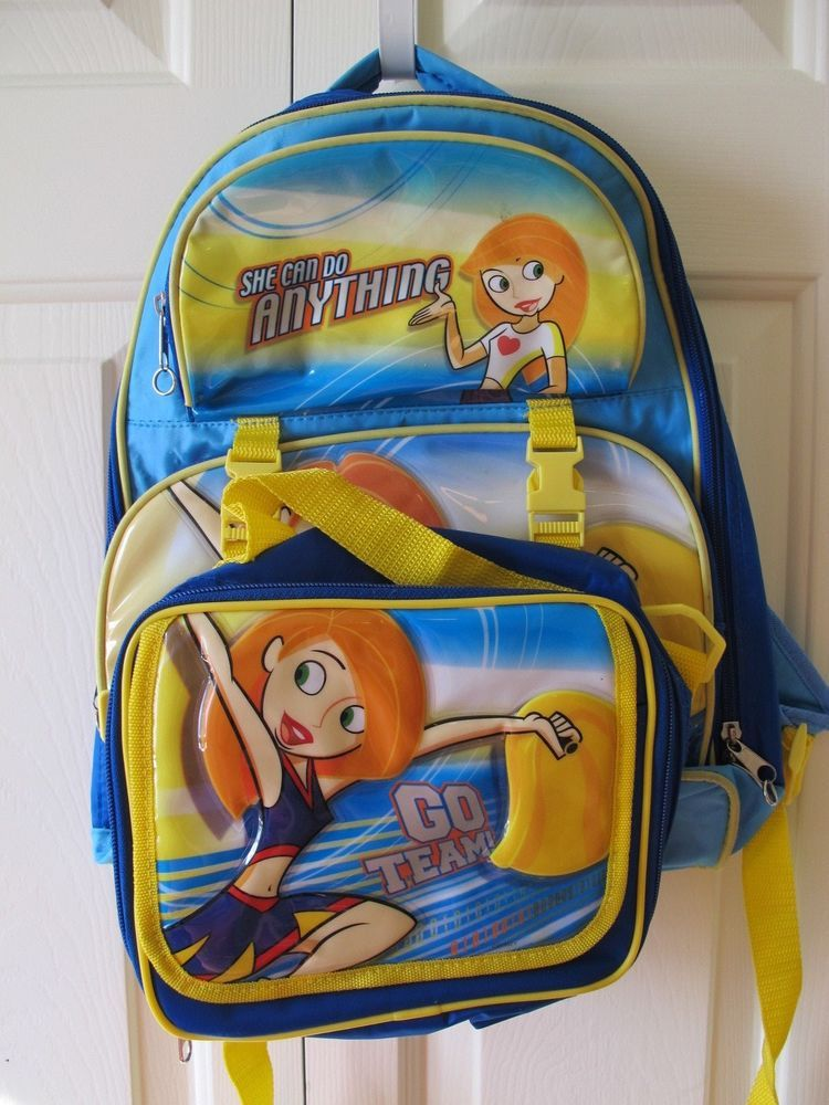 Kim Possible Back pack bookbag and lunch box
