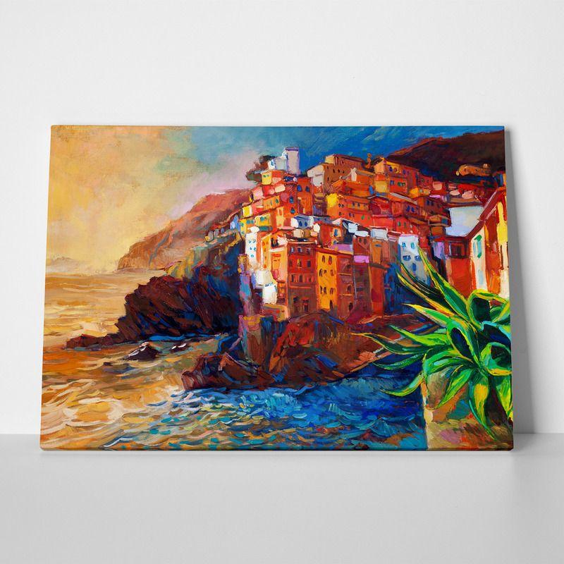 Canvas print italian riviera village by sticky