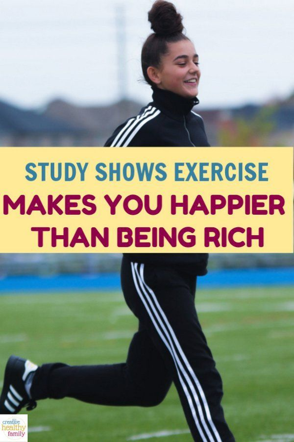 "Exercise makes you happier than being rich, according to studies! So readjust your goals and make ""g..."