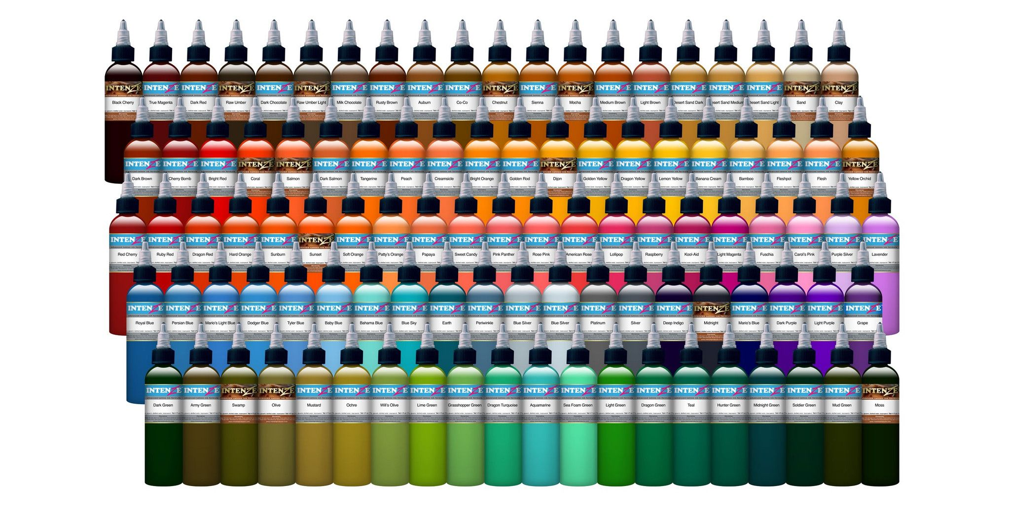 Intenze ink all colours 1oz 995 4oz 3600