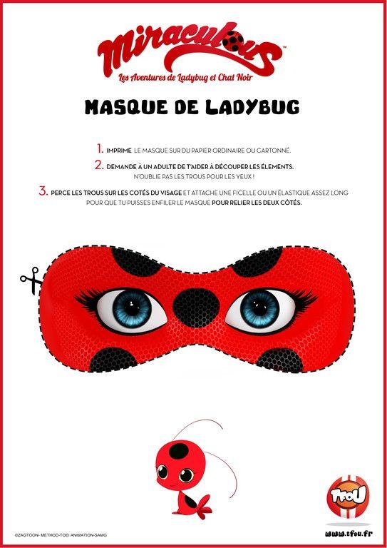 Masque Lady Bug - Miraculous - TFOU   //Fiestas