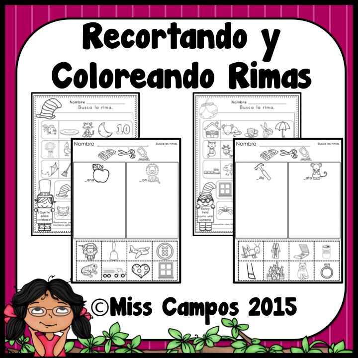 Rimas Spanish Rhyming   Spanish Resources for K 1   Pinterest ...