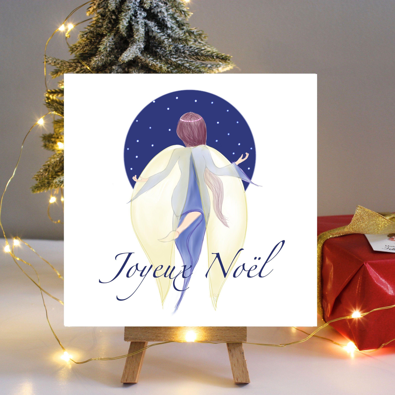 Carte de voeux ange illustrée carte de Noël 2018 ange de | Etsy