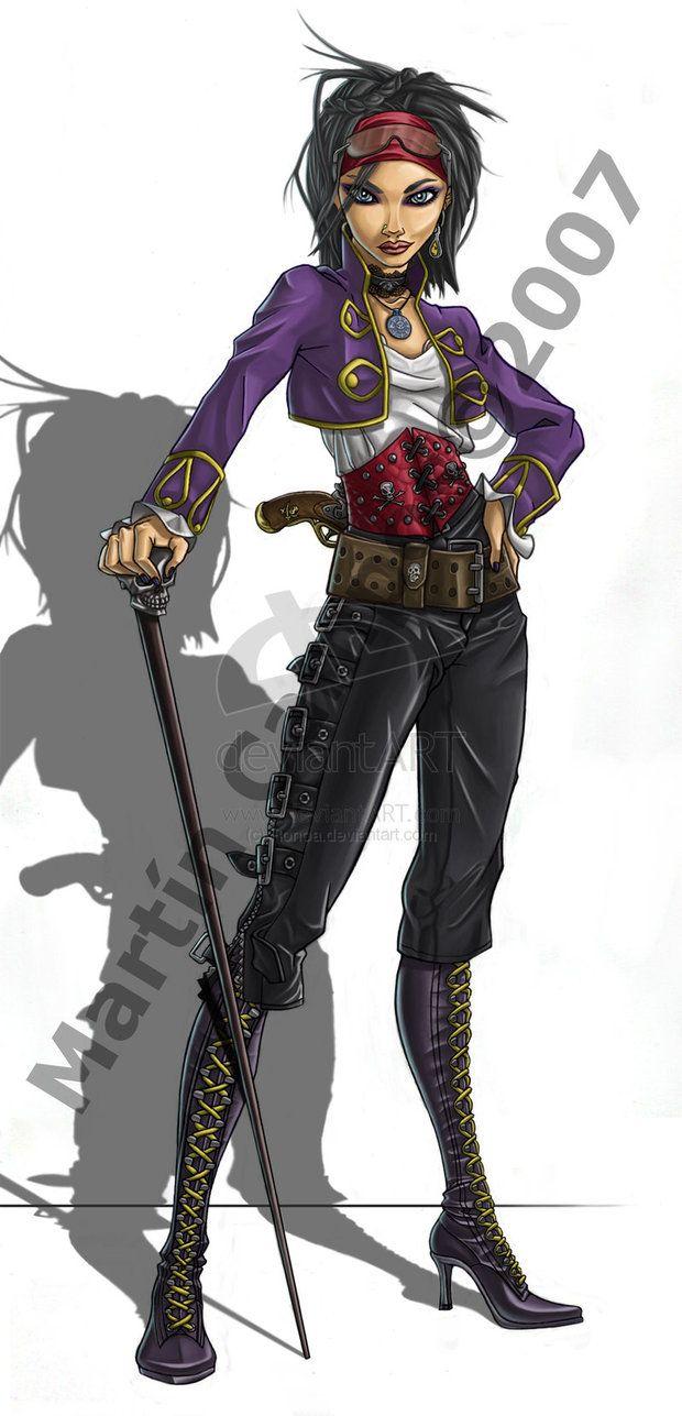 Female pirate drawing - photo#44