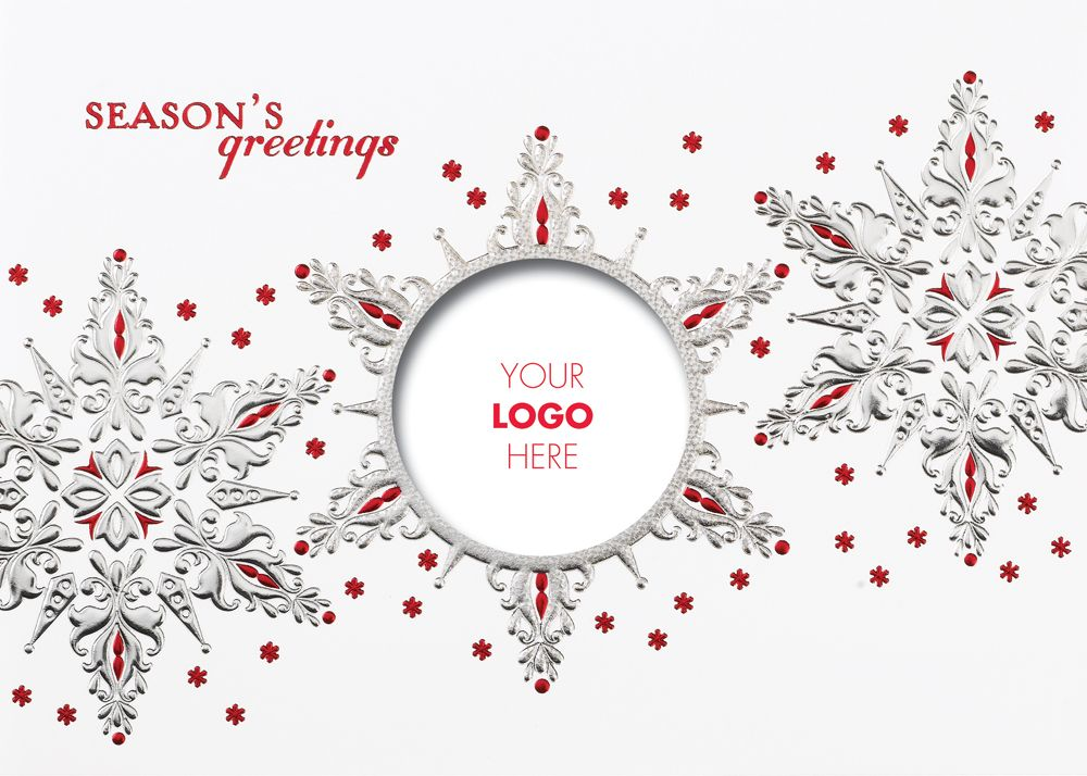Snowflake Logo Christmas Card - Advanced Printing & Graphic ...