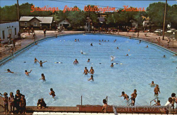 The Old And Well Loved Pool In Wellington Kansas Now Gone And Replaced With A Water Park Pool Sumner County Swimming Pools